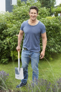 matthias steiner working in a garden