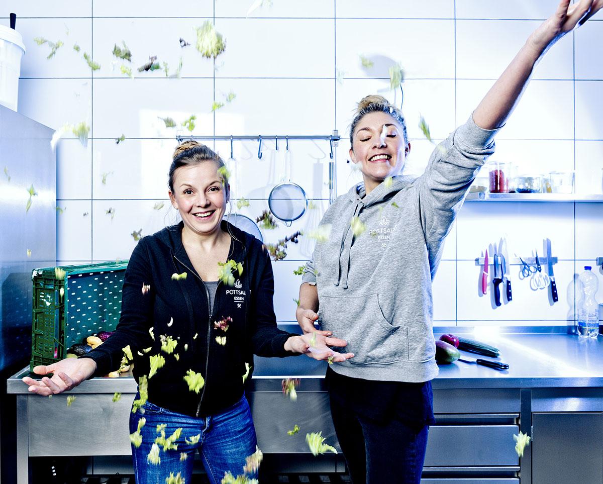 Gründerinnen von Pottsalat Alexandra Künne und Pia Gerigk